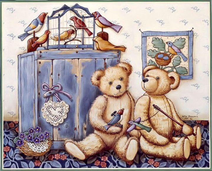 Открытки с мишками и куклами