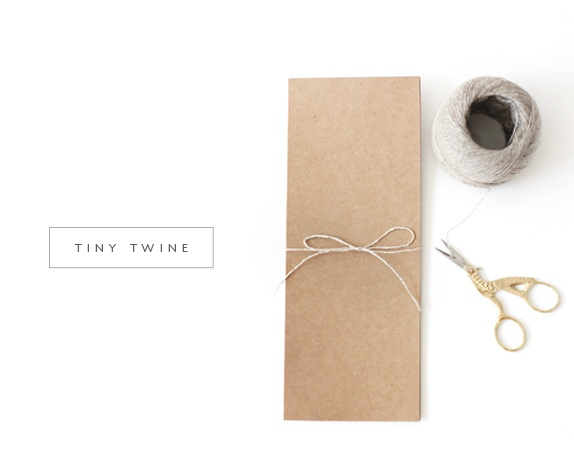 Super tiny twine, a wonderful addition to your craft + packaging arsenal!