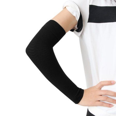 Pair Black Slimming Arm Shaper Compression Arm Sleeve Shapewear for Women