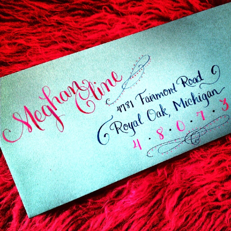Colorful Envelope Calligraphy Calligraphy By Jennifer