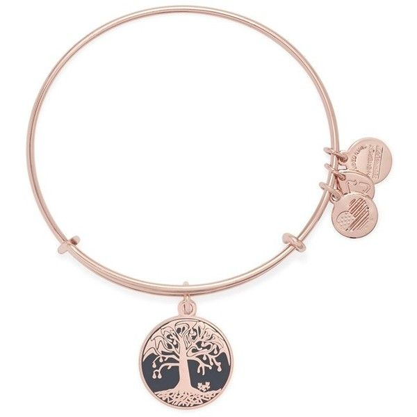 Alex and Ani 'Tree of LIfe' Expandable Bangle ($38) ❤ liked on Polyvore featuring jewelry, bracelets, rose gold, alex and ani bangles, medallion pendant, adjustable bangle bracelet, bangle jewelry and hinged bracelet