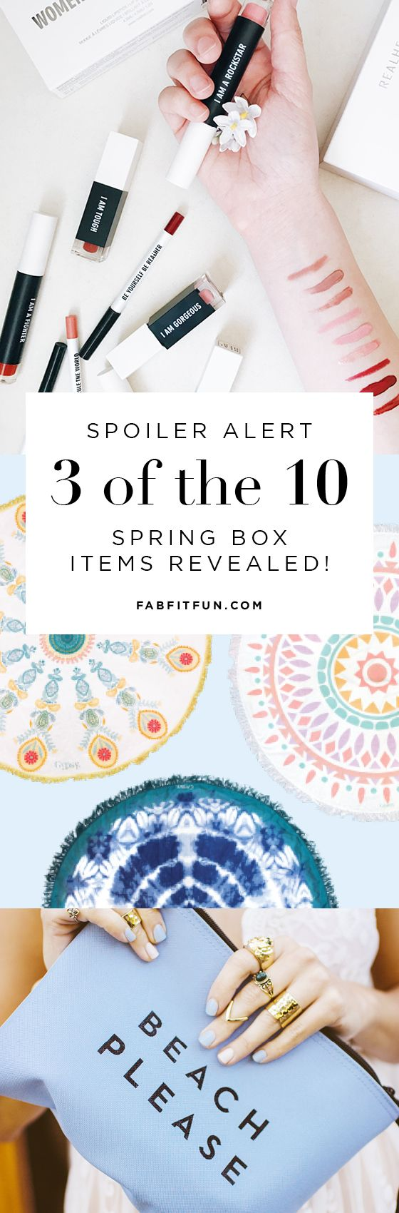 ALERT: The Spring Box just sold out! Sign up today to reserve the new FabFitFun box. These boxes sell out quick + you won't want to miss out! Use code HAPPY to get $10 off + FREE Shipping.