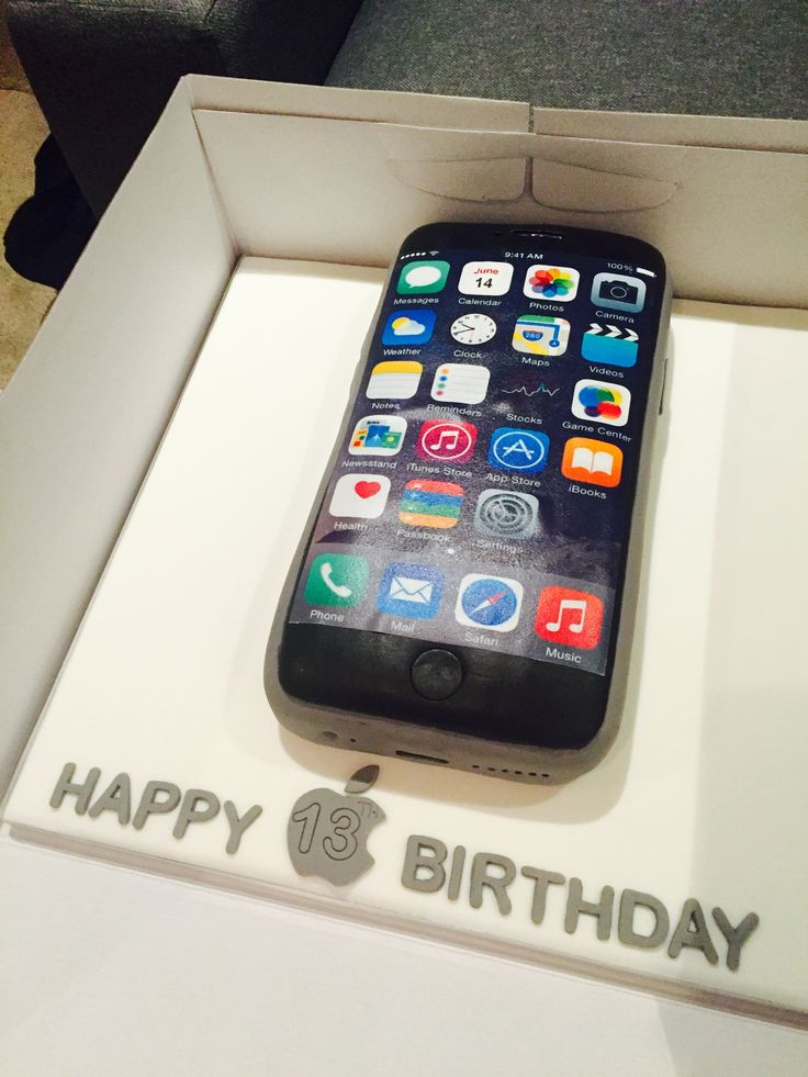 13 best IPHONE CAKES images on Pinterest Iphone cake Amazing