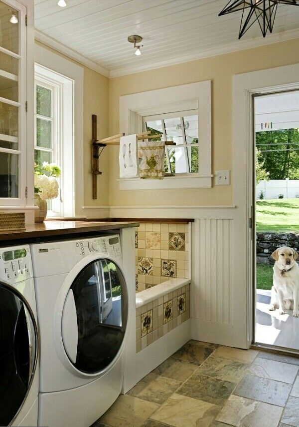 Laundry Room With Dog Wash Basin ™� ™� Dream Home Interior Pinterest Service Dogs The Mud
