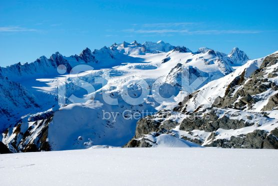 Pure Snow Plateau royalty-free stock photo