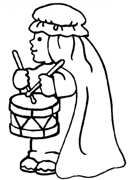 little drummer boy coloring page - Printable Boy Coloring Pages