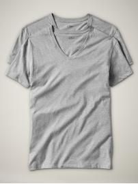 Simple T's for dad. Pair with flannel pj pants from Gap. Short-sleeved v-neck tee.