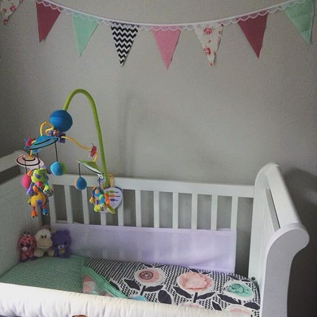 Adorable!!! This room is just too cute. Thanks for the pic Sarah, we hope bubs loves the bunting too xx Baby room inspiration