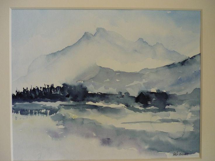nebel+im+aquarell   Landschaften – Heinzi's Aquarelle