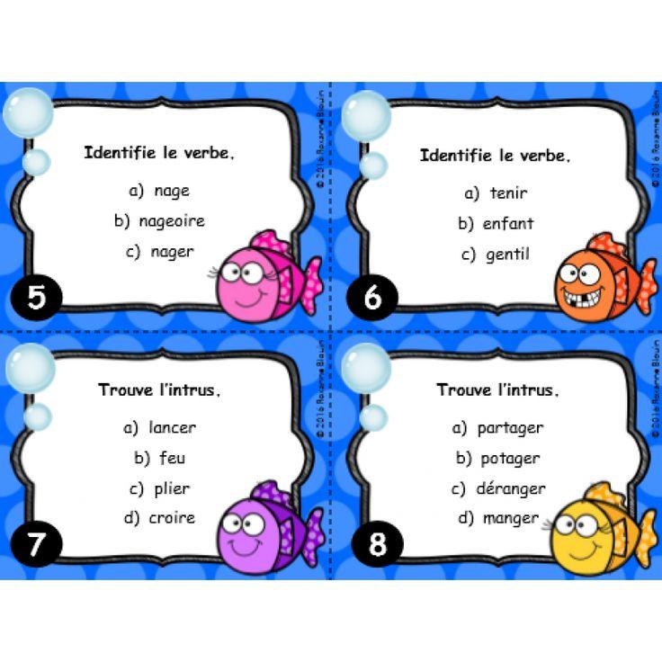 Cartes à tâches : Le verbe