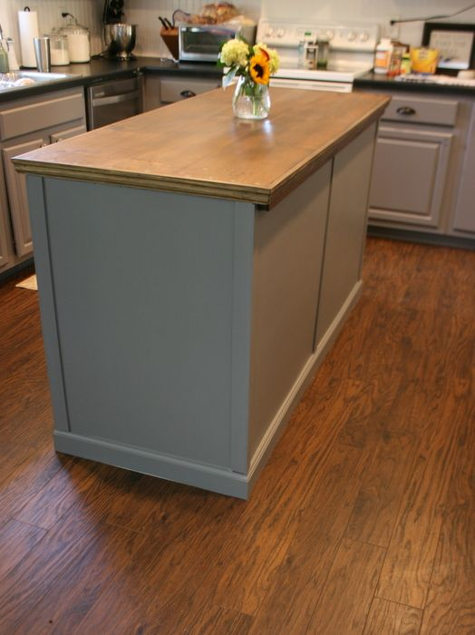 Upcycled Kitchen Island With Reclaimed Wood Top Kitchen Ideas