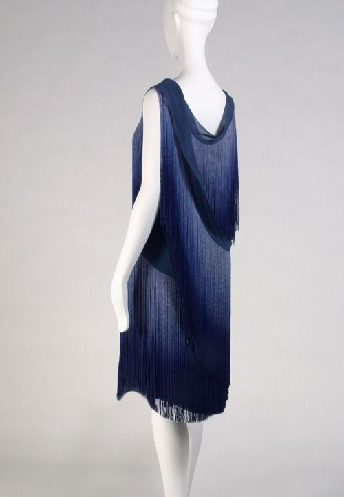 Excellent fringed evening dress layers of shaded blue coco chanel s kent state with mannequin - Mannequin couture maison du monde ...