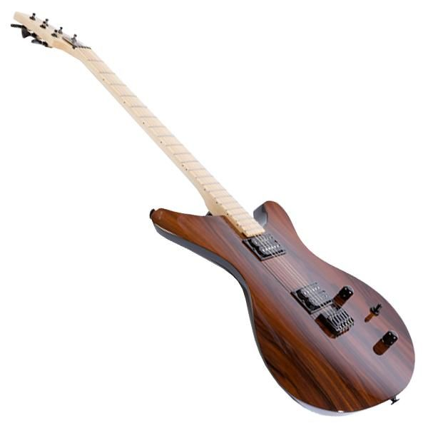 A high gloss finish encapsulates this handcrafted poplar and hard maple wood guitar by Sinuous. It is is lightweight and features an ergonomic design that curves around the player's body, making it easier to hold for a more intimate playing experience. Each guitar comes complete with a MONO M80 soft case that's ideal for travelling from gig to gig. http://zocko.it/LEXiZ