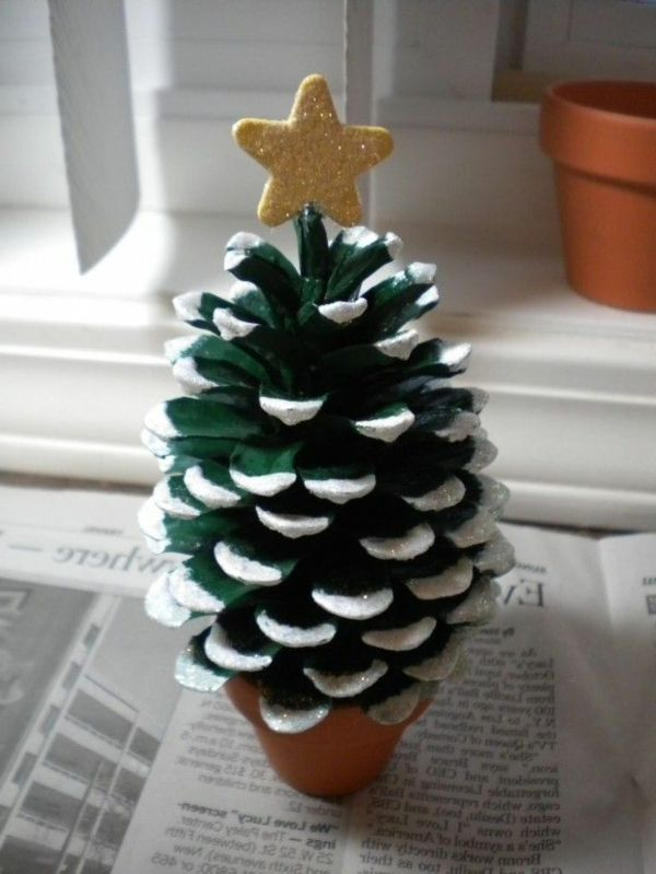 86 best images about weihnachten weihnachtsdekoration on for Decorating pine cones for christmas tree