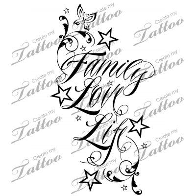 Family His and Hers Custom Tattoo | 2 #33218 | CreateMyTattoo.com