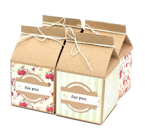 Vintage Charm Milk Carton Favors