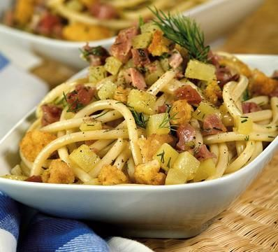 Ricette primi piatti: bucatini patate e speck