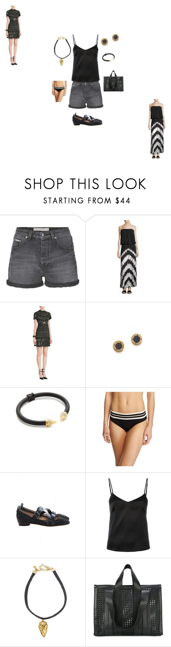 """satchel dress"" by ramakumari ❤ liked on Polyvore featuring Calvin Klein Jeans, Young, Fabulous & Broke, Lynn Ban, Marc Jacobs, Vita Fede, Karla Colletto, Valentino, La Perla, Vanessa Mooney and Corto Moltedo"