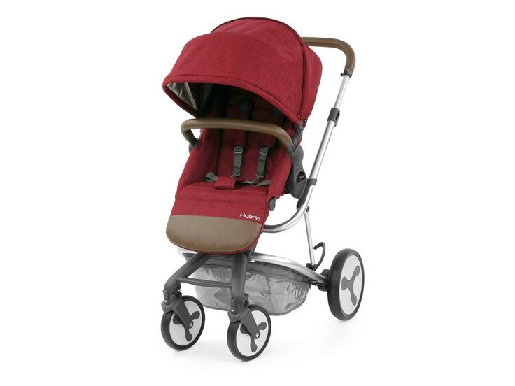 Hybrid Edge Stroller In Lava Red Stroller Single