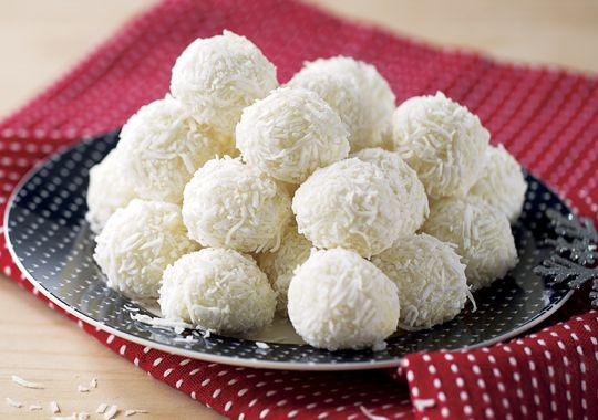 These Coconut Truffles are a delicious after dinner treat! Or pop in them in a jar with a festive ribbon for a sweet gift idea.