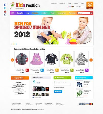 14 best joomla website templates images on pinterest website kids fashion magento website template price 79 pronofoot35fo Image collections