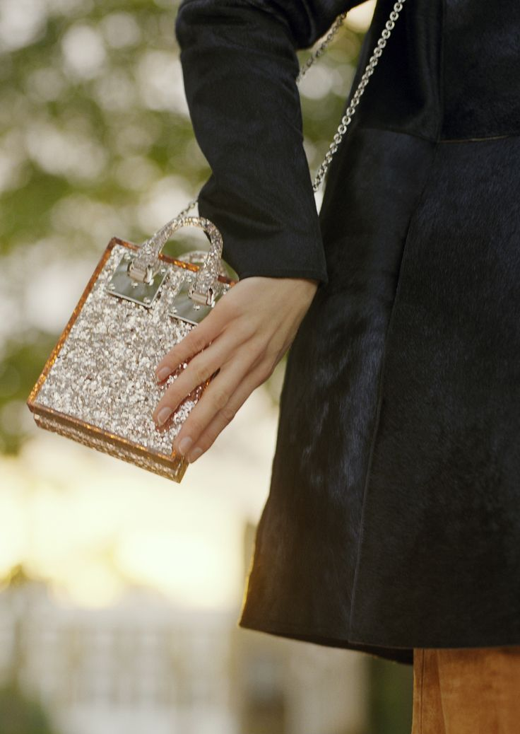 Pink Glitter and polished silver hardware - the Compton Tote in Glitter Pink is ready to party.