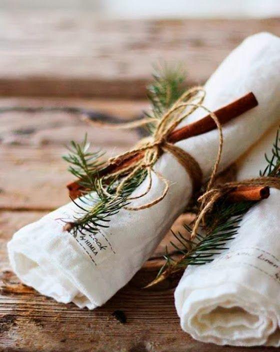 """Foto """"pinnata"""" dalla nostra lettrice Marivi, blogger di Mar & Vi studio Idee last minute per preparare la tavola di Natale"""