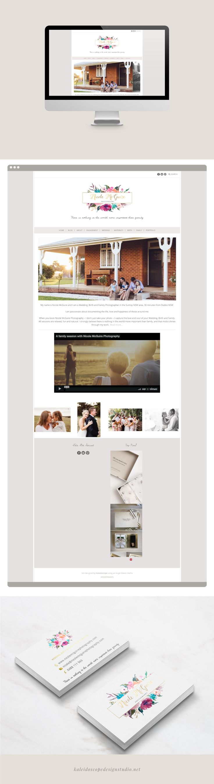 Nicole McGuire Photography Website Design - Kaleidoscope Design Studio