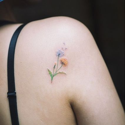 15 Of The Smallest, Most Tasteful Flower Tattoos - Small Tattoos Blog for Men and Women: