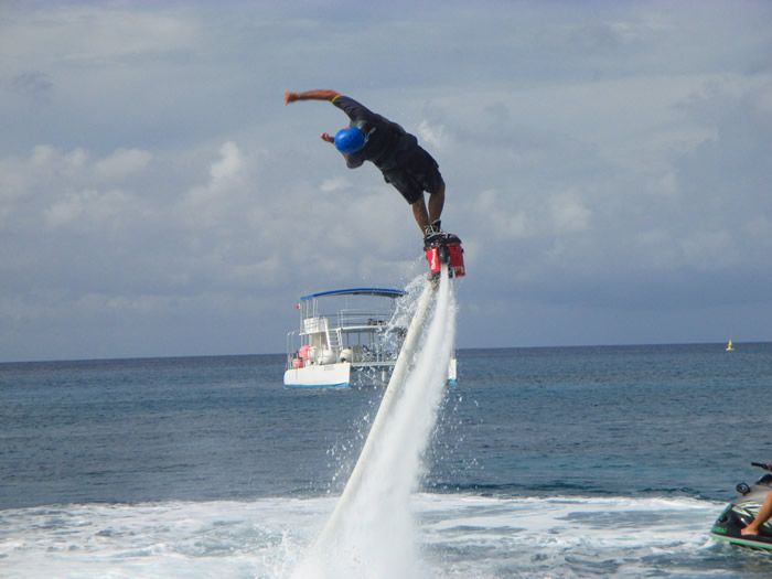 Flyboard Cozumel with a sidewinder from Jorge