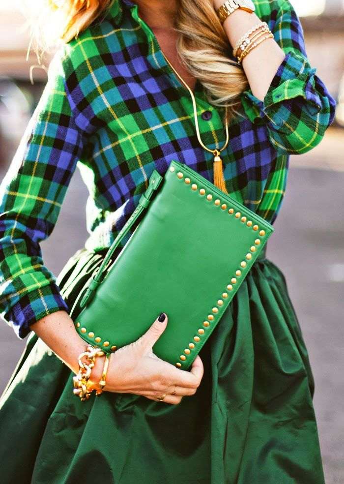 my kind of holiday look - a cozy classic, paired with something fancy - just a touch of sparkle