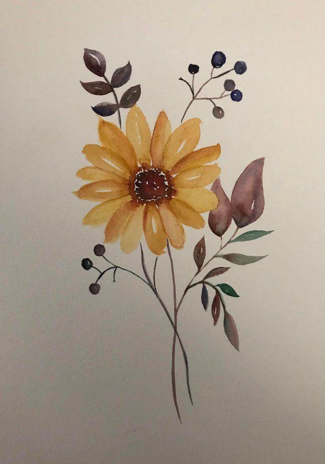 A Little Flower Watercolor Watercolor Watercolor Drawing