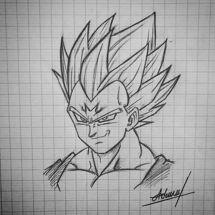 "Dessin de Majin Vegeta | Sketch #Majin #majinvegeta #vegeta #Anime #DragonBallZ #Dbz #Toyotaro…"""