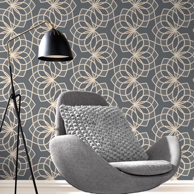 Rasch Spiro Geometric Dark Grey Glitter Wallpaper - 304022