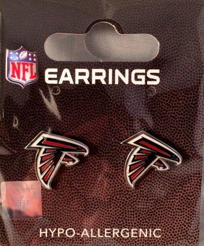216e7121 Atlanta Falcons Logo Stud Earrings   Falcons   Falcons, Atlanta ...