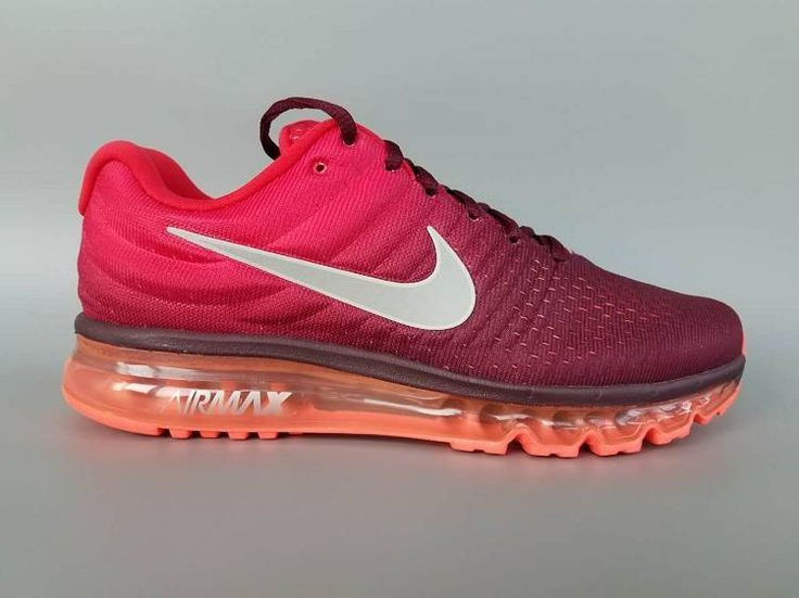 Nike Air Max 2017 Rose Red Black Running Shoes(36-46) Online Nike Air Max 2017 Rose Red Black Running Shoes(36-46)