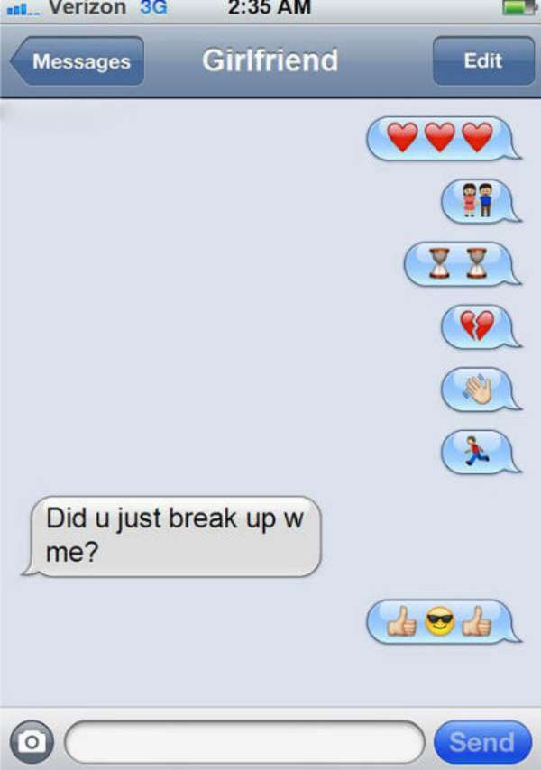 Emoji Break up