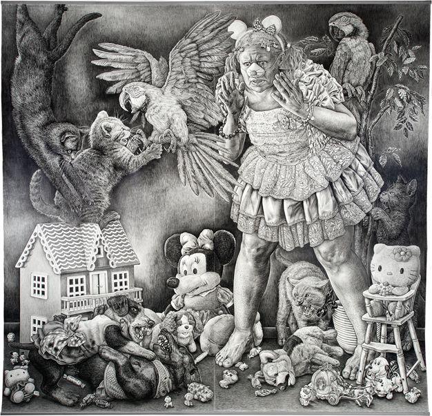 Stiina Saaristo, Piirustus pettymyksestä, 2012 - a pencil drawing, size 285 x 300 cm!
