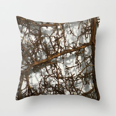 Vines Throw Pillow by Peta Sun Fire - $20.00