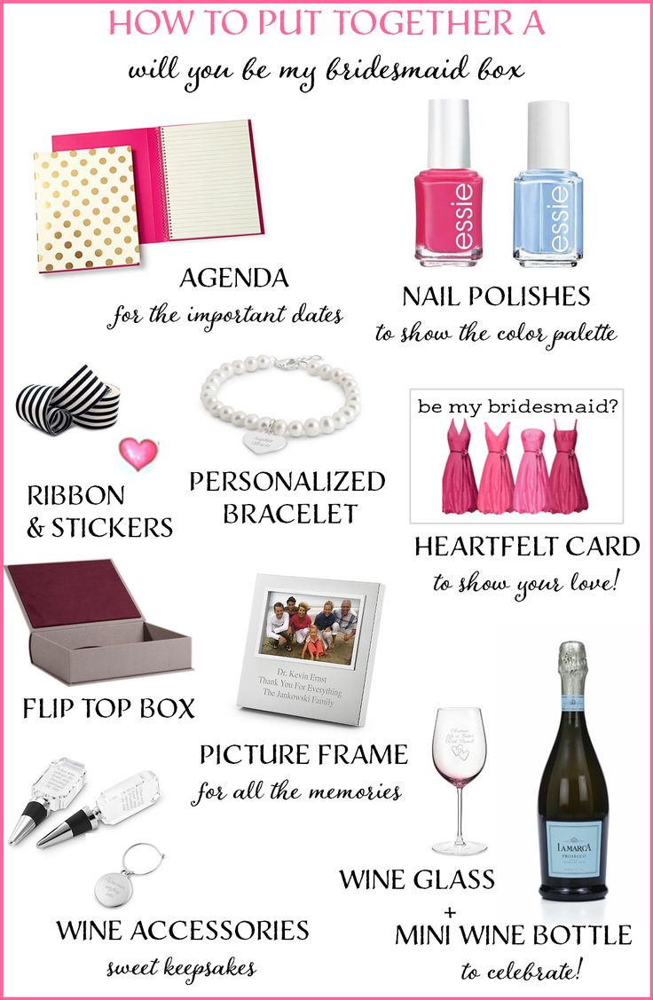 """How to Create a """"Will You Be My Bridesmaid"""" Box http://www.theperfectpalette.com/2014/08/how-to-create-will-you-be-my-bridesmaid.html"""