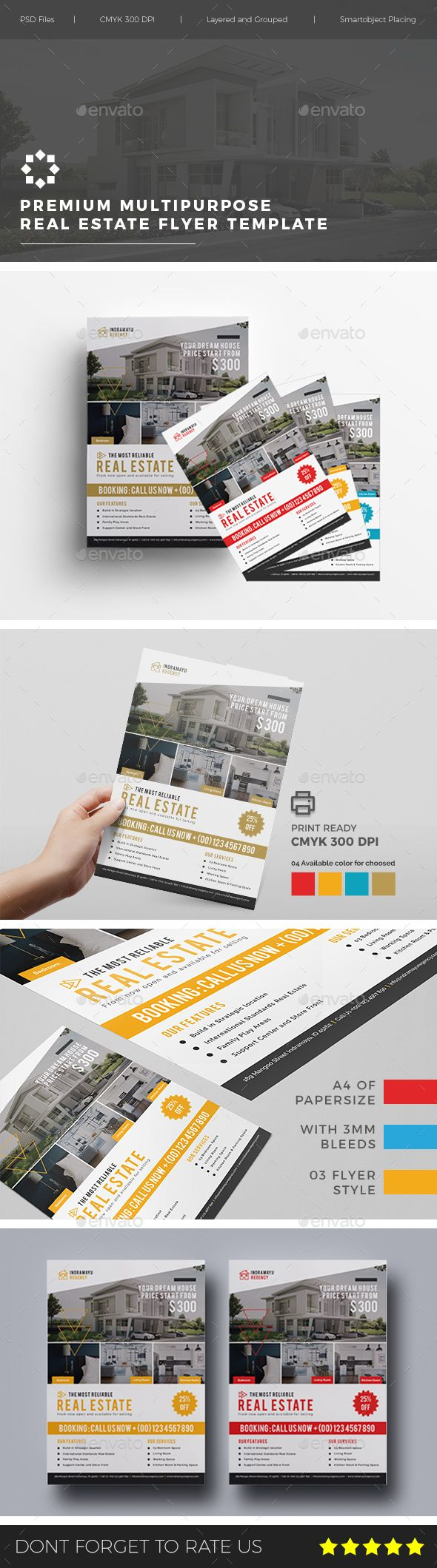 Real Estate Template%0A Multipurpose Real Estate Flyer Vol