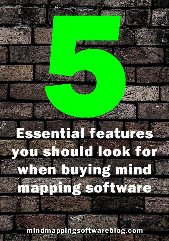 """5 essential features you should look for when buying mind mapping software - here are the """"must-haves."""" #mindmap #mindmapping #visualthinking"""