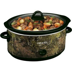Be still my heart. A camo crockpot / slow cooker.