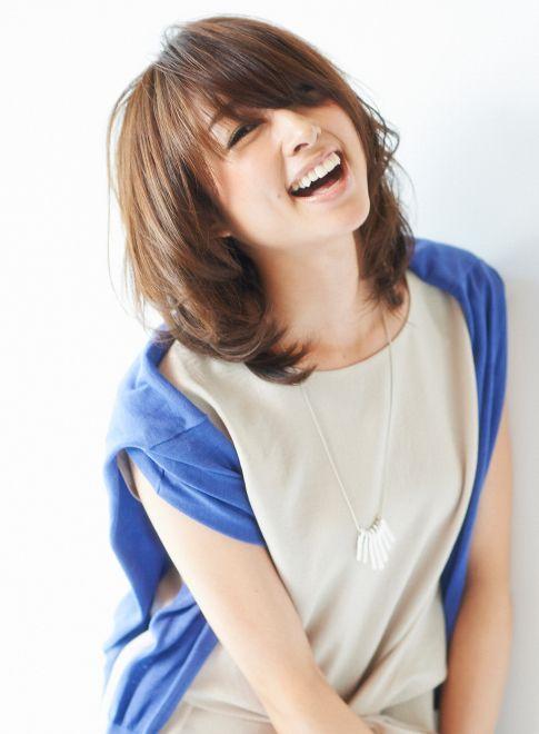 ドマーニ 渡辺佳子さん風のナチュラルヘア 【MINX shimokitazawa】 http://beautynavi.woman.excite.co.jp/salon/3382?pint ≪ミディアム・ヘアスタイル・medium・hairstyle・髪形・髪型≫