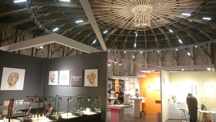 Look at the beautiful Westergasfabriek where Sieraad Art Fair 2015 was held. Our booth is on the left. Www.hoogenboombogers.com