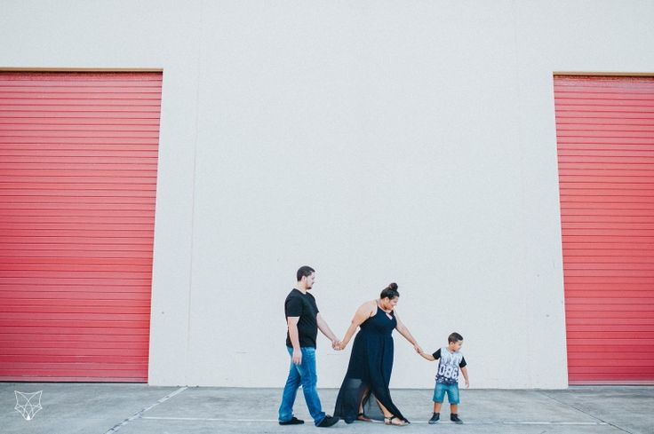 Maddy + Chris | Family in the city engagement session | White Fox Studios