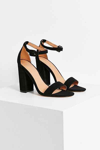 Black strappy heel for summer dresses? I will have to try this style on with dresses. Sometimes the ankle strap makes my legs look cut off