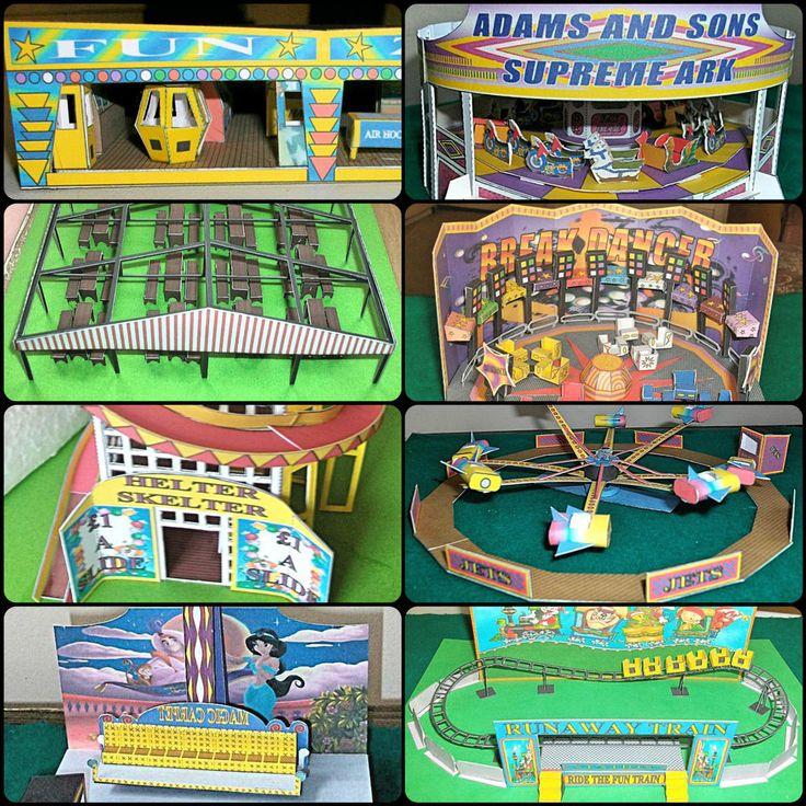 Various  OO  Scale Card Model FAIRGROUND Kits - model railway/OO scale/funfair,