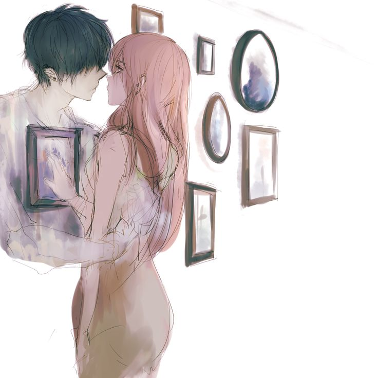 """""""(you see right through me) by pancake-waddle"""" I don't know about """"you see right through me"""" because she's touching the picture to see him and he's got his arm on her back...but I really like this picture. Someone else shared this and called it """"ghost"""" but I wonder why the artist gave it the other name?"""