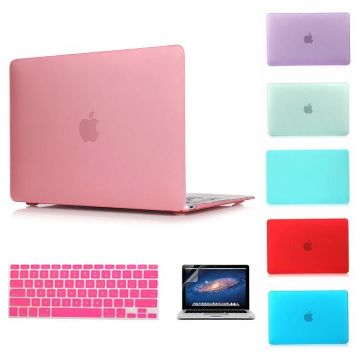 Matte Case For Apple Macbook Air 13 Case Air 11 Pro 13 Retina 12 13 15 Laptop Bag For Mac book Keyboard Cover+Screen film